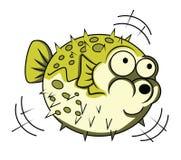 Pescados del fumador stock de ilustración