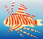 Pescados del león del océano. Imagen de archivo