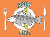 Pescados 1 del menú Fotos de archivo