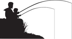Pescados del padre y del hijo stock de ilustración