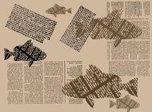 Pescados del periódico Fotografía de archivo libre de regalías