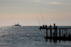 Pescados del retén de los pescadores fotografía de archivo libre de regalías
