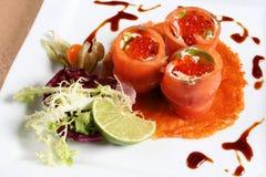 Pescados del rojo del caviar Foto de archivo libre de regalías