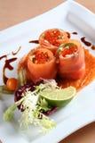 Pescados del rojo del caviar Imagen de archivo libre de regalías