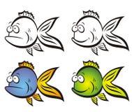 Pescados divertidos. Foto de archivo libre de regalías