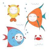 Pescados divertidos stock de ilustración