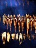 Pescados en el horno Foto de archivo libre de regalías