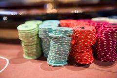 Pescados en la tabla en casino fotos de archivo libres de regalías