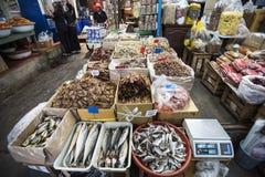 Pescados en mercado fotos de archivo libres de regalías