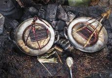 Pescados en mercado vietnamita Fotos de archivo libres de regalías
