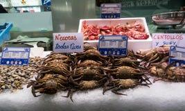 Pescados frescos en el mercado de pescados Imágenes de archivo libres de regalías
