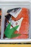 Pescados frescos en mercado callejero Imágenes de archivo libres de regalías
