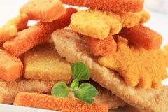 Pescados fritos Fotos de archivo
