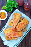 Pescados fritos Fotografía de archivo