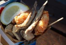 Pescados fritos Imagenes de archivo