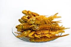 Pescados fritos goreng de Ikan Imagenes de archivo