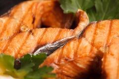 Pescados fritos o asados a la parrilla Fotografía de archivo libre de regalías