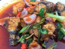Pescados fritos picantes Foto de archivo