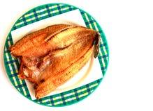 Pescados fritos (snakehead común) Fotografía de archivo