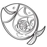 Pescados grandes que comen un pequeño pescado Imágenes de archivo libres de regalías