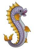 Pescados heráldicos stock de ilustración