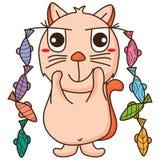 Pescados ideales del gato stock de ilustración