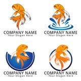 Pescados Koi Concept Logo Fotos de archivo