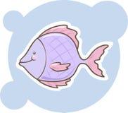 Pescados lindos de la púrpura de la historieta Imagen de archivo libre de regalías
