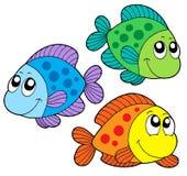Pescados lindos del color ilustración del vector