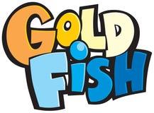 Pescados listos para utilizar del oro del logotipo Fotos de archivo libres de regalías