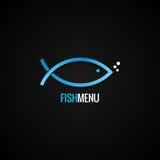 Pescados Logo Design Dorado Background Fotos de archivo