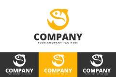 Pescados Logo Design Isolated en el fondo blanco libre illustration