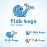 Pescados Logo Template Fotos de archivo libres de regalías