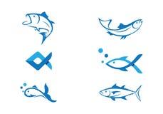 Pescados Logo Template Fotografía de archivo
