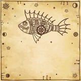 Pescados mecánicos de la animación Imágenes de archivo libres de regalías