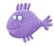 Pescados púrpuras divertidos