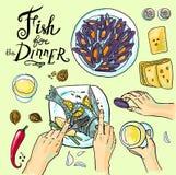 Pescados para la cena Fotografía de archivo libre de regalías