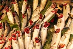 Pescados para la venta en Hong-Kong Fotografía de archivo libre de regalías