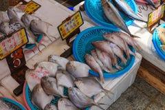 Pescados para la venta en Hong-Kong imágenes de archivo libres de regalías