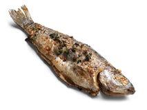 Pescados recientemente fritos deliciosos Foto de archivo libre de regalías