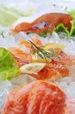 Pescados rojos en el hielo fotografía de archivo
