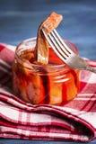 Pescados rojos en salsa fotografía de archivo libre de regalías