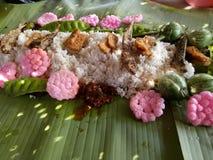 Pescados salados arroz Fotografía de archivo libre de regalías