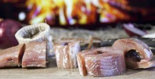 Pescados salados cocinados despu?s de captura imagen de archivo libre de regalías