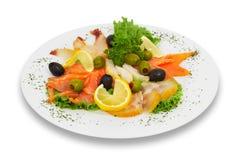 Pescados salados rebanados, clasificados. isloated. Imagenes de archivo