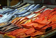 Pescados salados y preservados Fotos de archivo libres de regalías