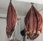 Pescados secados en mercado Foto de archivo libre de regalías