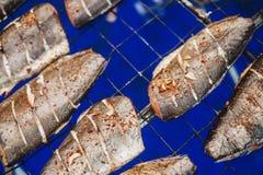Pescados secados, pila de salmón curado foto de archivo libre de regalías