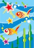 Pescados subacuáticos - ejemplo Fotografía de archivo libre de regalías