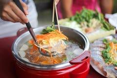 Pescados Sukiyaki Imagen de archivo libre de regalías